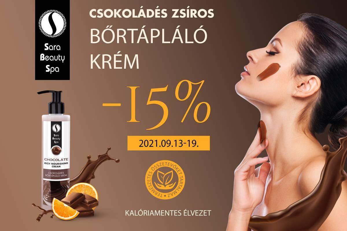 Csokoládés bőrtápláló krém - 15% kedvezmény
